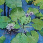 A fleur d'eau- Pastel