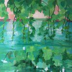 Green Rhapsodie- peinture à l'huile