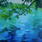 lumière sur le lac- Peinture à l'huile