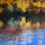 Reflet sur le Rhône-Pastel